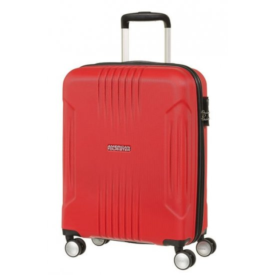 Tracklite 4-wheel Spinner suitcase 55cm Red