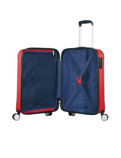 Tracklite 4-wheel Spinner suitcase 55cm Red - Product Comparison