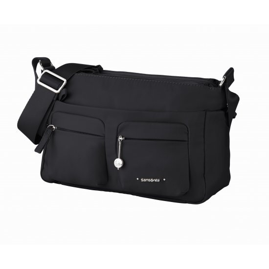 Move 3.0 Horizontal Shoulder Bag + Flap Black