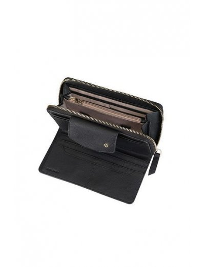 Seraphina ladie's wallet made out of 100% PU Black - Ladies' leather wallets