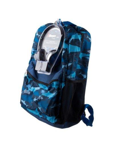 "AmericanKids Backpack ""Sharks""  + headphones - Kid's school backpacks 1- 4 grade"