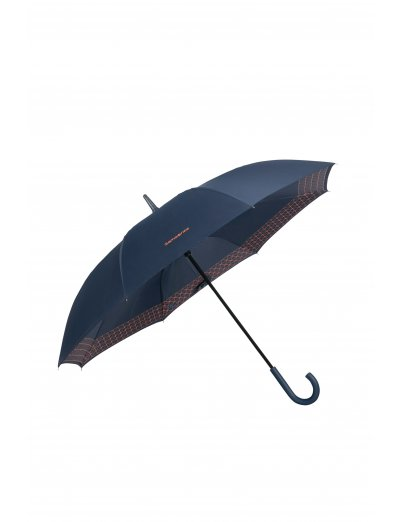 Up Way Stick Umbrella Dark Blue/Mandarin Orange - Umbrellas