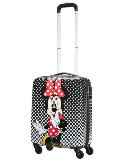 AT Spinner 4 wheels Disney Legends 55 cm Minnie Mouse Polka Dot - Kids' suitcases
