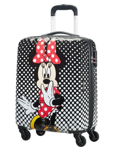 AT Spinner 4 wheels Disney Legends 65 cm Minnie Mouse Polka Dot - Kids' suitcases