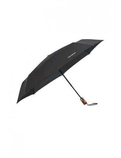 Wood Classic S 3 Sect. Auto O/C Short - Foldable Black - Umbrellas