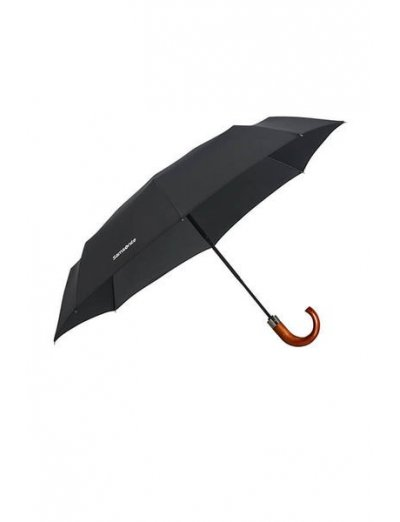 Wood Classic S 3 Sect. Auto O/C Crook - Foldable Black - Umbrellas