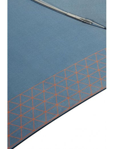 Up Way  3 Sect. Manual Mini Dark Blue/Mandarin Orange - Ladies umbrella