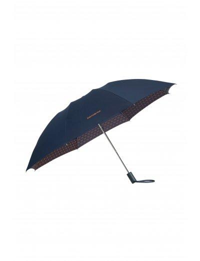 Up Way  3 Sect. Auto O/C Blue/Mandarin Orange - Ladies umbrella