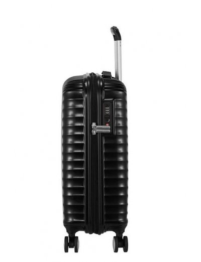 Jetglam Spinner (4 wheels) 55cm Mettallic Black - Hardside collection