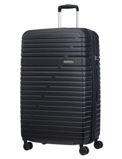Aero Racer Spinner (4 wheels) 79cm Exp.  Jet Black - Large suitcases