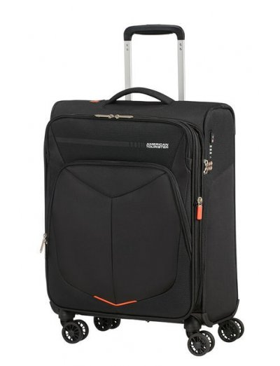 Summerfunk Spinner (4 wheels) 55cm Exp. Black - Softside suitcases