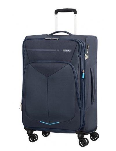Summerfunk Spinner (4 wheels) 67.5cm Exp. Navy - Suitcases