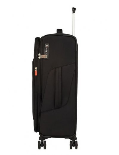 Summerfunk Spinner (4 wheels) 67.5cm Exp. Black - Softside suitcases
