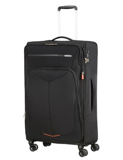 Summerfunk Spinner (4 wheels) 79cm Exp. Black - Softside suitcases