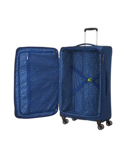 MatchUP Spinner (4 wheels) 79 сm Exp. Neon Blue - Softside suitcases