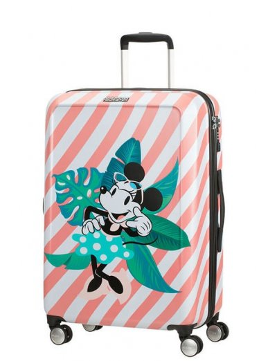 AT Spinner 4 wheels Funlight Disney 67 cm Minnie Miami Holiday - Kids' suitcases