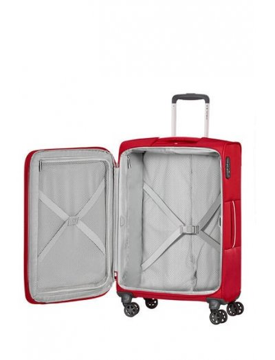 Popsoda Spinner Expandable (4 wheels) 78cm  Red - Softside collection