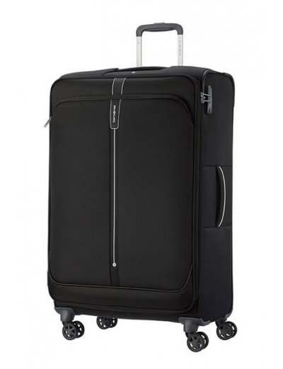 Popsoda Spinner Expandable (4 wheels) 78cm  Black - Large suitcases