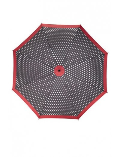 R-Pattern Umbrella STICK Black/White Dots/Rose Red - Umbrellas