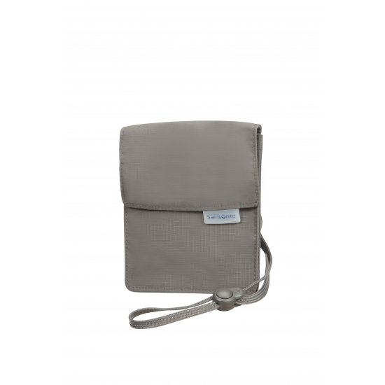 Deluxe multi-pocket neck pouch RFID