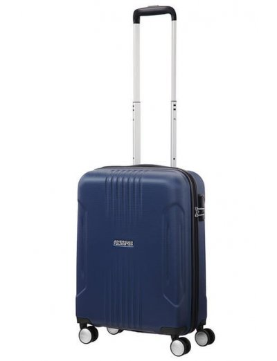 Tracklite 4-wheel Spinner suitcase 55cm Darck Blue - Product Comparison
