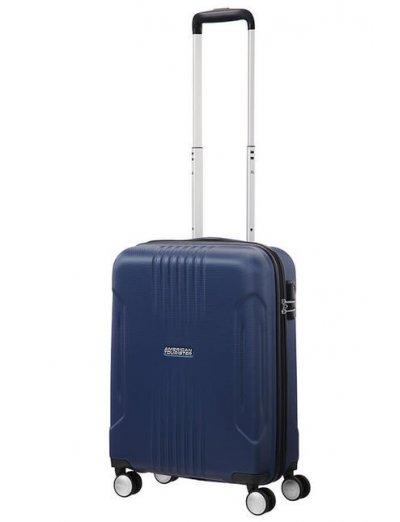 Tracklite 4-wheel Spinner suitcase 55cm Darck Blue - Hardside suitcases