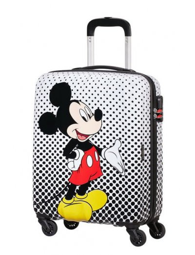AT Spinner 4 wheels Disney Legends 55 cm Mickey Mouse Polka Dot - Kids' suitcases
