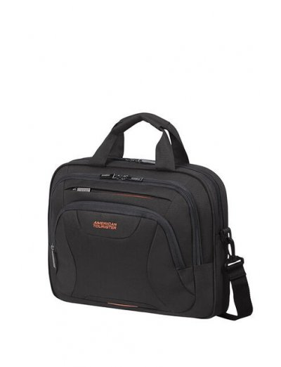At Work Laptop Bag 33.8-35.8cm/13.3-14.1″ Black/Orange - Softside suitcases