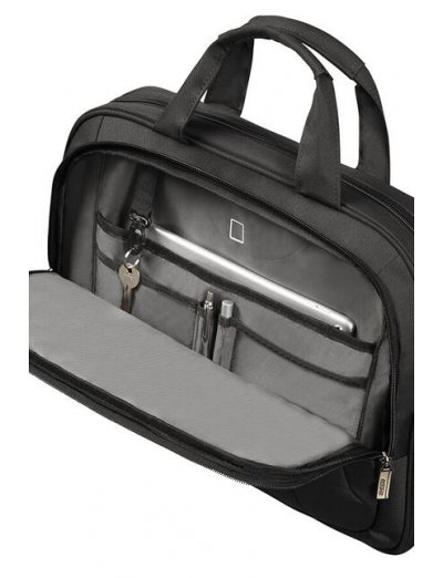 At Work Laptop Bag 39.6cm/15.6″ Black/Orange - Men's business bags