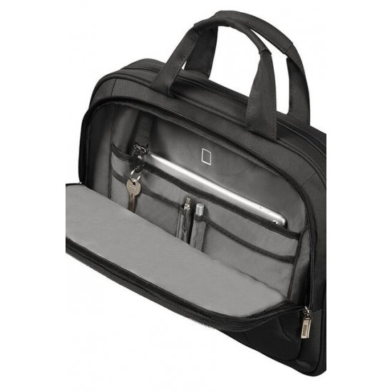 At Work Laptop Bag 39.6cm/15.6″ Black/Orange