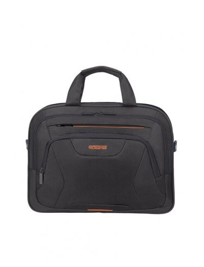 At Work Laptop Bag 39.6cm/15.6″ Black/Orange - Bags