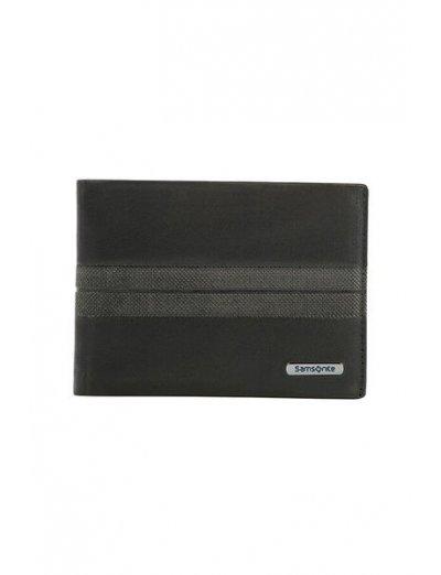 Spectrolite Slg 8 CC + 2 C Black/Night Blue - Men's leather wallets