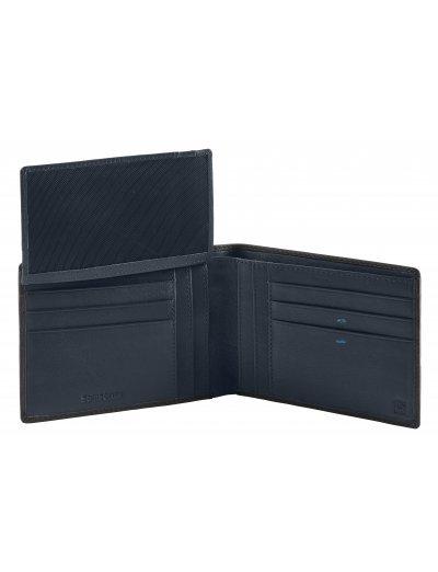 Spectrolite Slg 9CC + V FL + 2C + W Black/Night Blue - Men's leather wallets