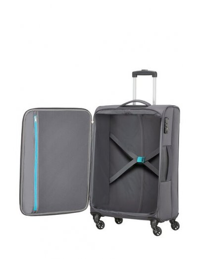 Heat Wave 4-wheel cabin baggage Spinner suitcase 68cm Charcoal Grey - Heat Wave