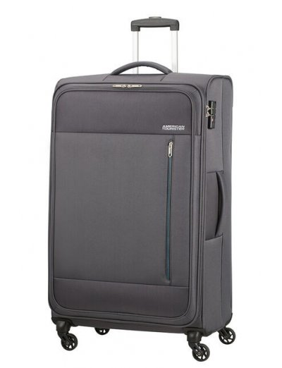 Heat Wave 4-wheel cabin baggage Spinner suitcase 80cm Charcoal Grey - Suitcases
