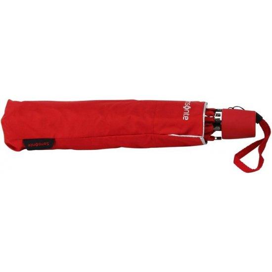 Ръчен чадър в червен цвят