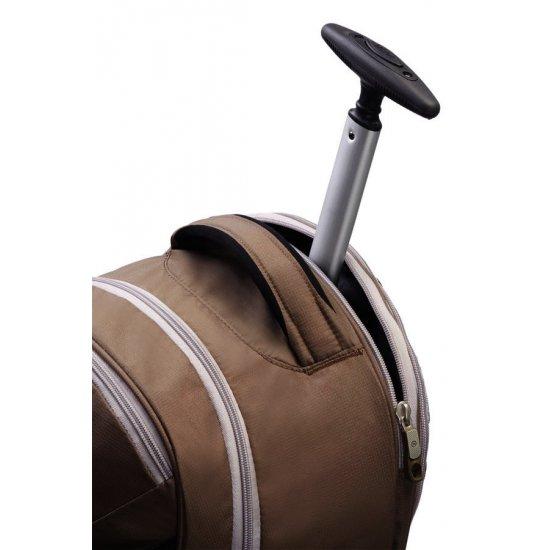 Раница на 2 колела за 17 инча лаптоп Wanderpacks в кафяво и сиво