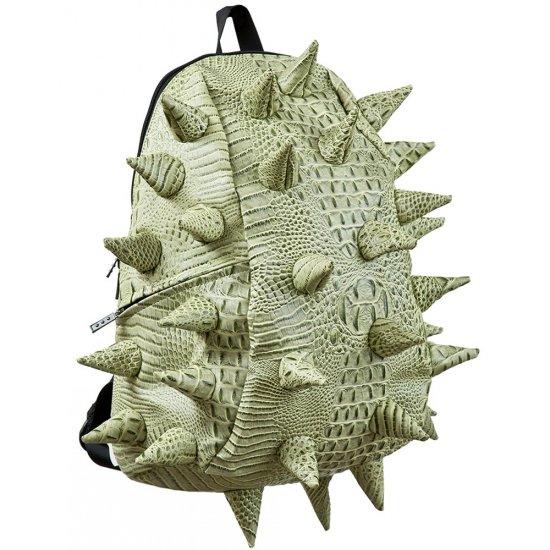 """AmericanKids Backpack """"Gator Full"""" green, embossed python"""