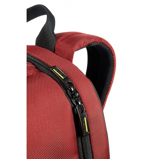 Infinipak Security Laptop Backpack 39.6cm/15.6inch Red/Black