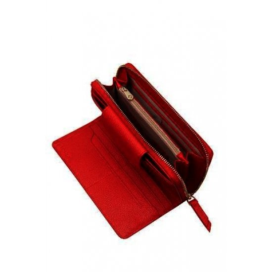 Seraphina ladie's wallet made out of 100% PU Scarlet Red