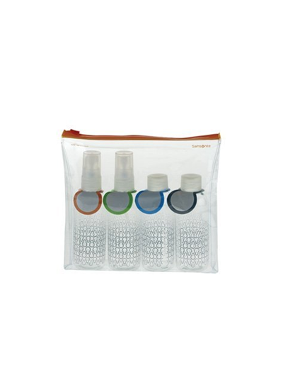 Carry-on Toiletry Bottle Set - Luggage cover including address labels