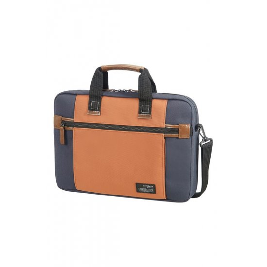 Sideways Laptop Bag 15.6inch Blue/Orange