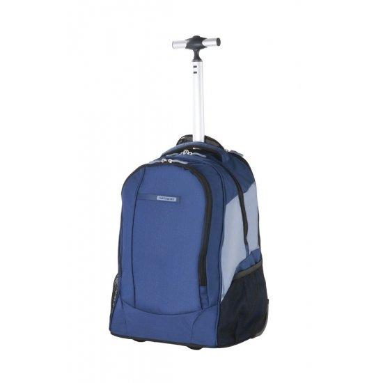 Синя компютърна раница на колела за 15.6 инча лаптоп