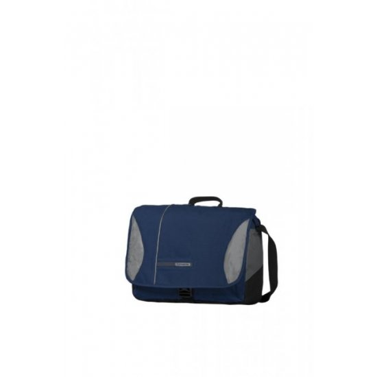 Тъмно синя чанта за рамо с отделение за 15.6 инча лаптоп Wander- Full