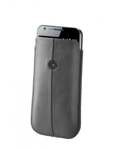 Gray case iPhone 5 made of Full leather size L Dezir Swirl - Outlet section