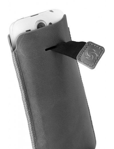 Gray case iPhone 5 made of Full leather size XL Dezir Swirl - Outlet section