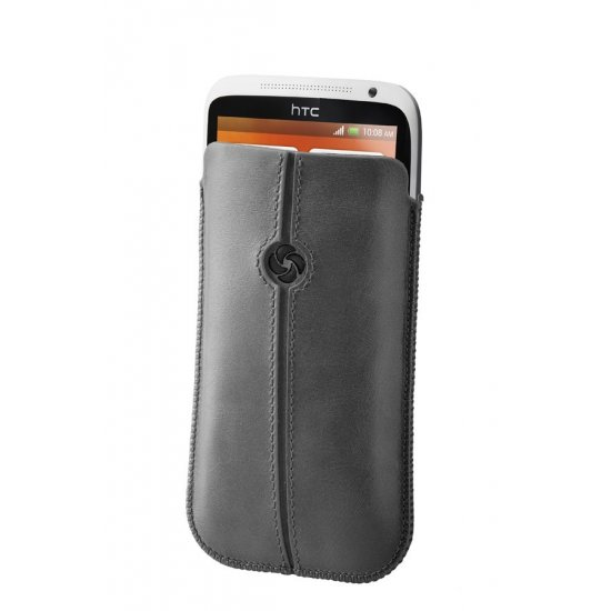 Gray case iPhone 5 made of Full leather size XL Dezir Swirl