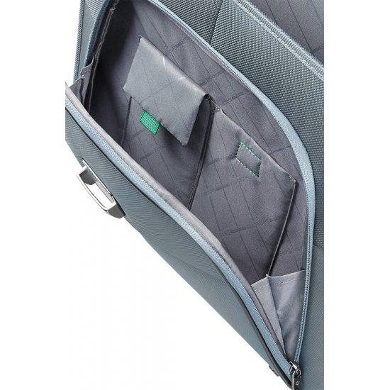 Сива бизнес чанта  за 15.6 инча лаптоп Desklite с две прегради