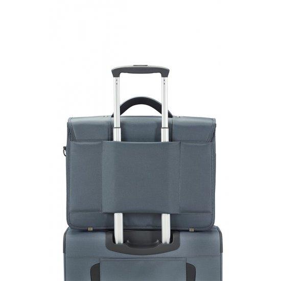 Сива бизнес чанта  за 15.6 инча лаптоп Desklite с три прегради