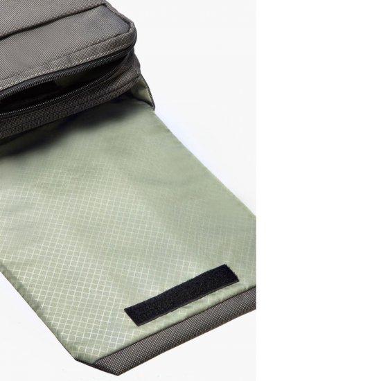 Gray cross-over shoulder bag Network 2 7-9.7